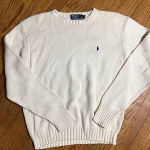 Polo Ralph Lauren knit sweater medium white AA18
